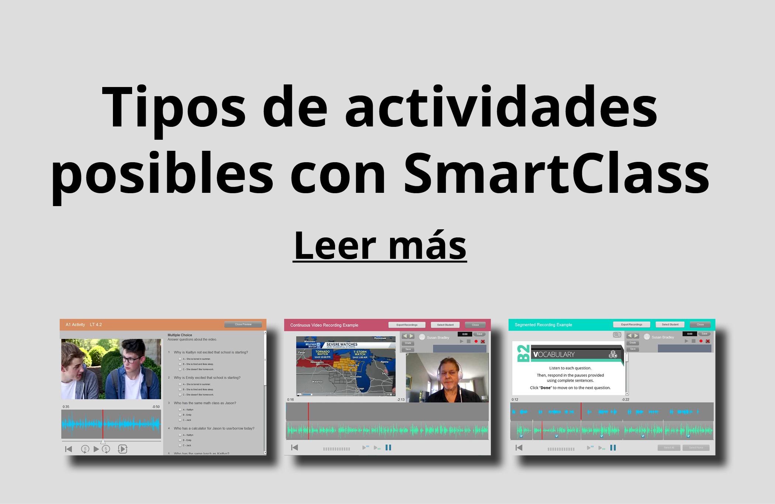 Actividades with smartclass
